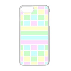 Geometric Pastel Design Baby Pale Apple Iphone 7 Plus Seamless Case (white) by Nexatart