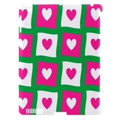 Pink Hearts Valentine Love Checks Apple Ipad 3/4 Hardshell Case (compatible With Smart Cover) by Nexatart