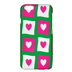 Pink Hearts Valentine Love Checks Apple Iphone 6 Plus/6s Plus Hardshell Case