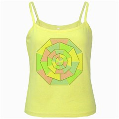 Color Wheel 3d Pastels Pale Pink Yellow Spaghetti Tank