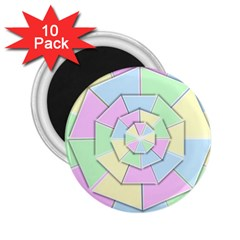 Color Wheel 3d Pastels Pale Pink 2 25  Magnets (10 Pack)