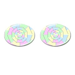 Color Wheel 3d Pastels Pale Pink Cufflinks (oval)