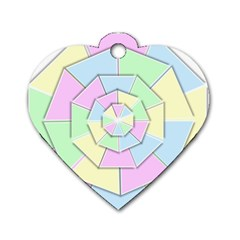 Color Wheel 3d Pastels Pale Pink Dog Tag Heart (two Sides) by Nexatart