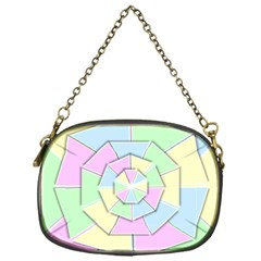 Color Wheel 3d Pastels Pale Pink Chain Purses (one Side)  by Nexatart