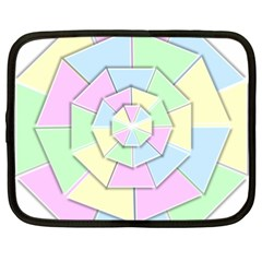 Color Wheel 3d Pastels Pale Pink Netbook Case (xl)  by Nexatart