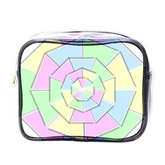 Color Wheel 3d Pastels Pale Pink Mini Toiletries Bags by Nexatart