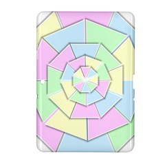 Color Wheel 3d Pastels Pale Pink Samsung Galaxy Tab 2 (10 1 ) P5100 Hardshell Case  by Nexatart