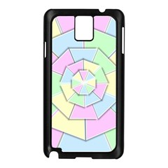 Color Wheel 3d Pastels Pale Pink Samsung Galaxy Note 3 N9005 Case (black) by Nexatart