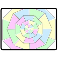 Color Wheel 3d Pastels Pale Pink Double Sided Fleece Blanket (large)  by Nexatart