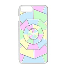 Color Wheel 3d Pastels Pale Pink Apple Iphone 7 Plus Seamless Case (white) by Nexatart
