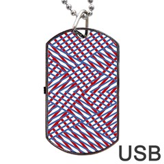 Abstract Chaos Confusion Dog Tag Usb Flash (two Sides)