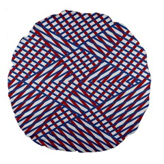 Abstract Chaos Confusion Large 18  Premium Flano Round Cushions