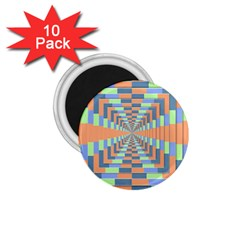 Fabric 3d Color Blocking Depth 1 75  Magnets (10 Pack)
