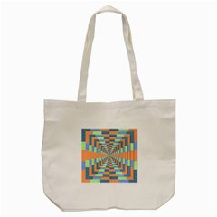 Fabric 3d Color Blocking Depth Tote Bag (cream) by Nexatart