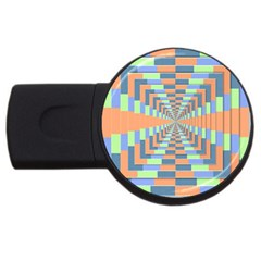 Fabric 3d Color Blocking Depth Usb Flash Drive Round (4 Gb) by Nexatart