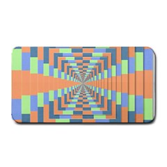 Fabric 3d Color Blocking Depth Medium Bar Mats by Nexatart