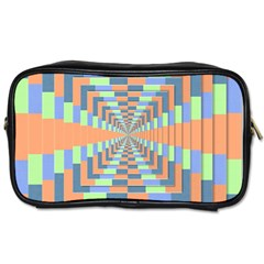 Fabric 3d Color Blocking Depth Toiletries Bags by Nexatart