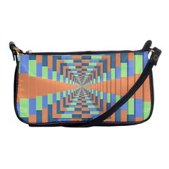 Fabric 3d Color Blocking Depth Shoulder Clutch Bags