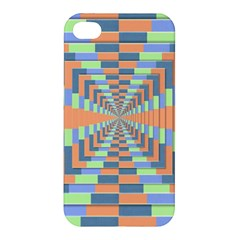 Fabric 3d Color Blocking Depth Apple Iphone 4/4s Hardshell Case