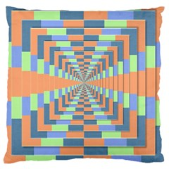 Fabric 3d Color Blocking Depth Large Cushion Case (two Sides) by Nexatart