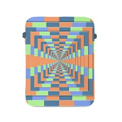 Fabric 3d Color Blocking Depth Apple Ipad 2/3/4 Protective Soft Cases