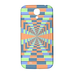 Fabric 3d Color Blocking Depth Samsung Galaxy S4 I9500/i9505  Hardshell Back Case