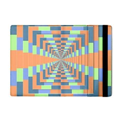 Fabric 3d Color Blocking Depth Ipad Mini 2 Flip Cases by Nexatart