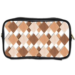 Fabric Texture Geometric Toiletries Bags by Nexatart