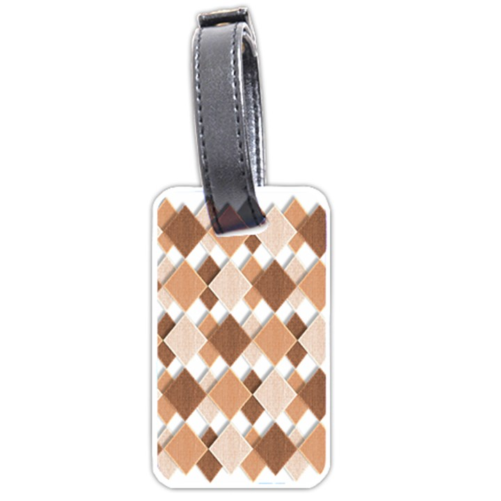 Fabric Texture Geometric Luggage Tags (Two Sides)