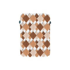 Fabric Texture Geometric Apple Ipad Mini Protective Soft Cases by Nexatart