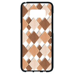 Fabric Texture Geometric Samsung Galaxy S8 Black Seamless Case by Nexatart