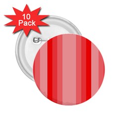 Red Monochrome Vertical Stripes 2 25  Buttons (10 Pack)