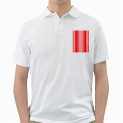 Red Monochrome Vertical Stripes Golf Shirts