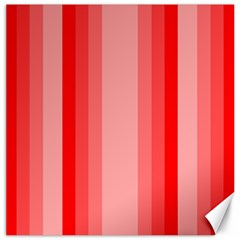 Red Monochrome Vertical Stripes Canvas 20  X 20