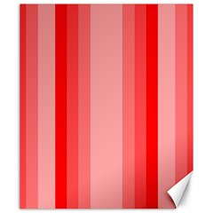 Red Monochrome Vertical Stripes Canvas 20  X 24