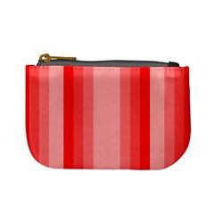 Red Monochrome Vertical Stripes Mini Coin Purses