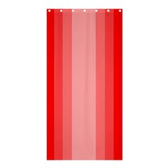 Red Monochrome Vertical Stripes Shower Curtain 36  X 72  (stall)  by Nexatart