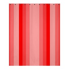 Red Monochrome Vertical Stripes Shower Curtain 60  X 72  (medium)