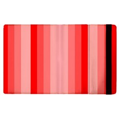 Red Monochrome Vertical Stripes Apple Ipad Pro 9 7   Flip Case by Nexatart