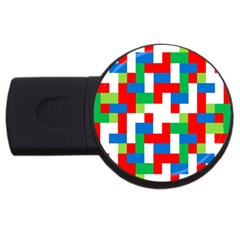 Geometric Maze Chaos Dynamic Usb Flash Drive Round (4 Gb) by Nexatart