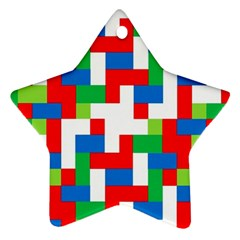 Geometric Maze Chaos Dynamic Star Ornament (two Sides)