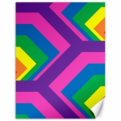 Geometric Rainbow Spectrum Colors Canvas 18  X 24