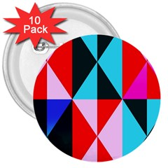 Geometric Pattern Design Angles 3  Buttons (10 Pack)  by Nexatart
