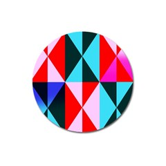 Geometric Pattern Design Angles Magnet 3  (round)