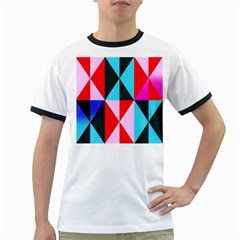 Geometric Pattern Design Angles Ringer T Shirts