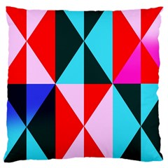 Geometric Pattern Design Angles Large Cushion Case (two Sides)