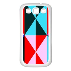 Geometric Pattern Design Angles Samsung Galaxy S3 Back Case (white) by Nexatart