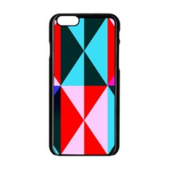 Geometric Pattern Design Angles Apple Iphone 6/6s Black Enamel Case