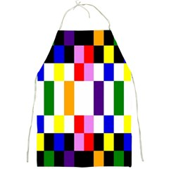 Rainbow Color Blocks Red Orange Full Print Aprons by Nexatart