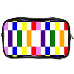 Rainbow Color Blocks Red Orange Toiletries Bags by Nexatart